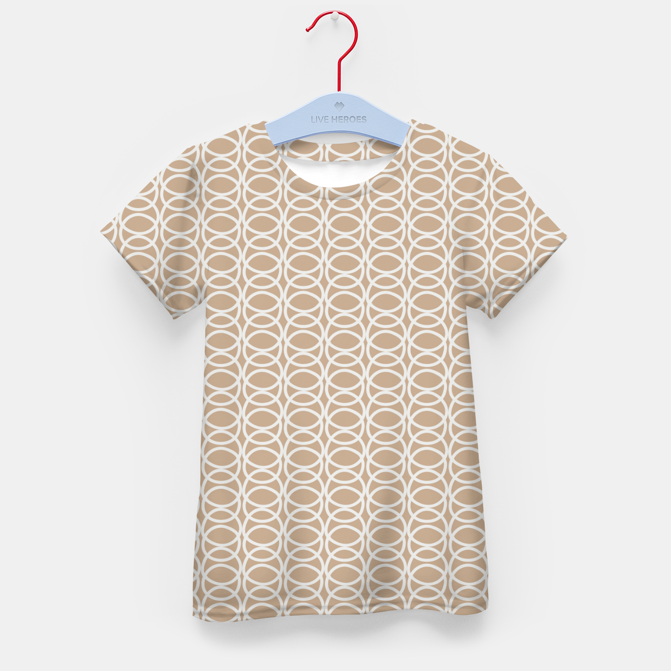 Image of Multiple White Circles Overlap Abstract Art Artist  Kid's t-shirt - Live Heroes
