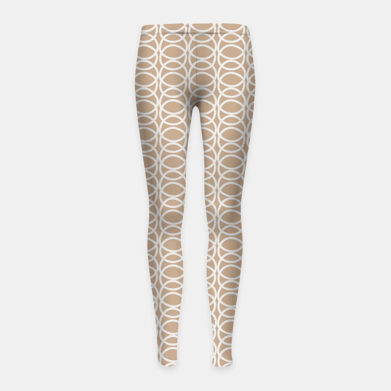 Image of Multiple White Circles Overlap Abstract Art Artist  Girl's leggings - Live Heroes