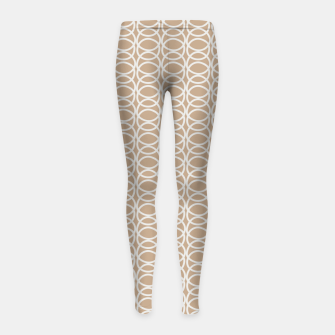 Miniatur Multiple White Circles Overlap Abstract Art Artist  Girl's leggings, Live Heroes