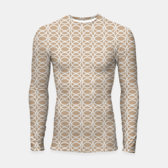 Miniatur Multiple White Circles Overlap Abstract Art Artist  Longsleeve rashguard , Live Heroes