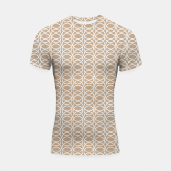 Thumbnail image of Multiple White Circles Overlap Abstract Art Artist  Shortsleeve rashguard, Live Heroes