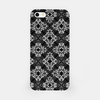 Thumbnail image of Black and White Checked Ornate Pattern iPhone Case, Live Heroes