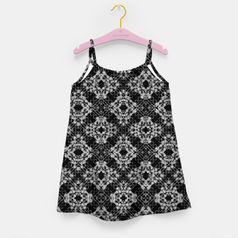 Thumbnail image of Black and White Checked Ornate Pattern Girl's dress, Live Heroes