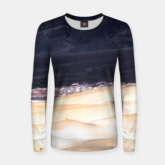 Thumbnail image of sand dunes at Death Valley national park, California, USA Women sweater, Live Heroes