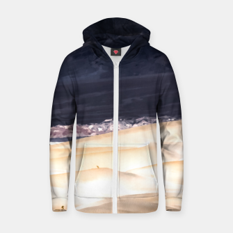 Thumbnail image of sand dunes at Death Valley national park, California, USA Zip up hoodie, Live Heroes