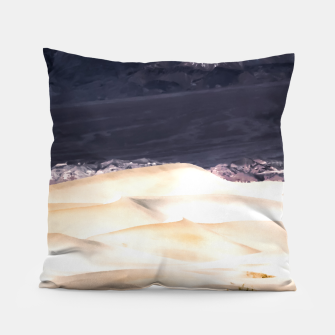 Thumbnail image of sand dunes at Death Valley national park, California, USA Pillow, Live Heroes