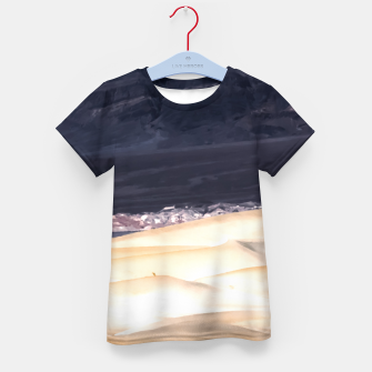 Thumbnail image of sand dunes at Death Valley national park, California, USA Kid's t-shirt, Live Heroes