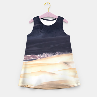 Thumbnail image of sand dunes at Death Valley national park, California, USA Girl's summer dress, Live Heroes