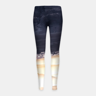 Thumbnail image of sand dunes at Death Valley national park, California, USA Girl's leggings, Live Heroes