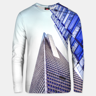 Thumbnail image of pyramid building and modern building at San Francisco, USA Unisex sweater, Live Heroes
