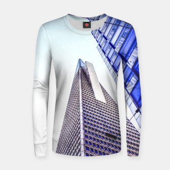 Thumbnail image of pyramid building and modern building at San Francisco, USA Women sweater, Live Heroes