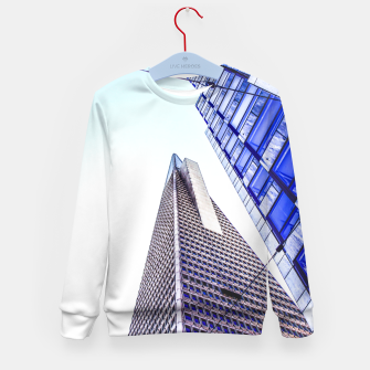 Thumbnail image of pyramid building and modern building at San Francisco, USA Kid's sweater, Live Heroes