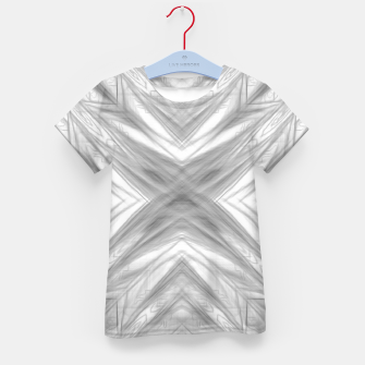 Thumbnail image of psychedelic drawing symmetry graffiti art abstract pattern in black and white Kid's t-shirt, Live Heroes