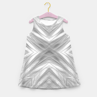 Thumbnail image of psychedelic drawing symmetry graffiti art abstract pattern in black and white Girl's summer dress, Live Heroes