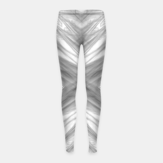 Thumbnail image of psychedelic drawing symmetry graffiti art abstract pattern in black and white Girl's leggings, Live Heroes