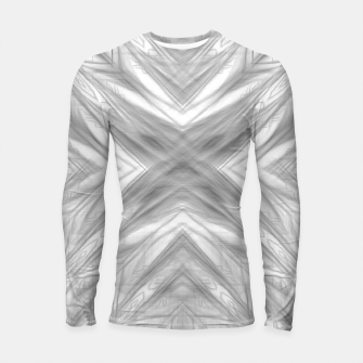 Thumbnail image of psychedelic drawing symmetry graffiti art abstract pattern in black and white Longsleeve rashguard , Live Heroes