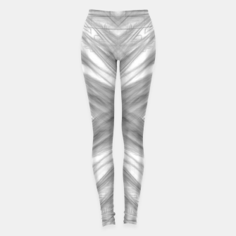 Thumbnail image of psychedelic drawing symmetry graffiti art abstract pattern in black and white Leggings, Live Heroes