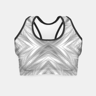 Thumbnail image of psychedelic drawing symmetry graffiti art abstract pattern in black and white Crop Top, Live Heroes