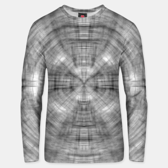Thumbnail image of psychedelic drawing symmetry graffiti abstract pattern in black and white Unisex sweater, Live Heroes