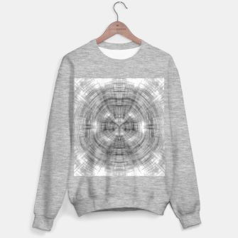 Thumbnail image of psychedelic drawing symmetry graffiti abstract pattern in black and white Sweater regular, Live Heroes