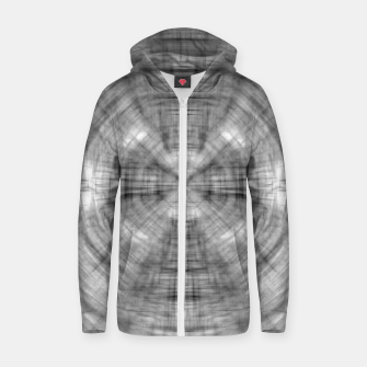 Thumbnail image of psychedelic drawing symmetry graffiti abstract pattern in black and white Zip up hoodie, Live Heroes