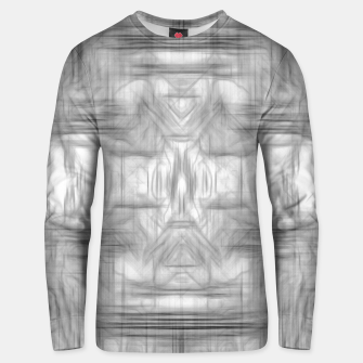 Thumbnail image of psychedelic graffiti skull art abstract in black and white Unisex sweater, Live Heroes