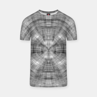 Thumbnail image of psychedelic drawing symmetry graffiti abstract pattern in black and white T-shirt, Live Heroes