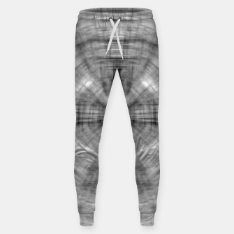 Thumbnail image of psychedelic drawing symmetry graffiti abstract pattern in black and white Sweatpants, Live Heroes