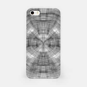 Thumbnail image of psychedelic drawing symmetry graffiti abstract pattern in black and white iPhone Case, Live Heroes