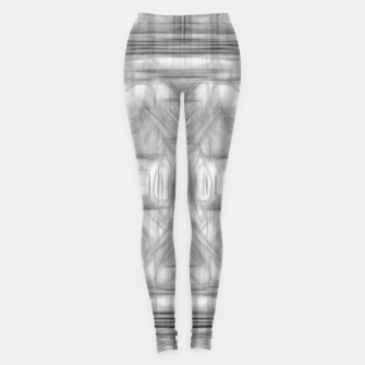 Miniatur psychedelic graffiti skull art abstract in black and white Leggings, Live Heroes