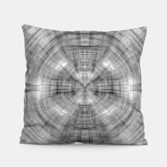 Thumbnail image of psychedelic drawing symmetry graffiti abstract pattern in black and white Pillow, Live Heroes