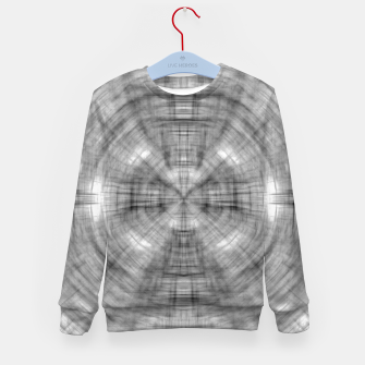 Thumbnail image of psychedelic drawing symmetry graffiti abstract pattern in black and white Kid's sweater, Live Heroes