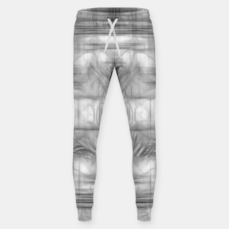 Miniatur psychedelic graffiti skull art abstract in black and white Sweatpants, Live Heroes