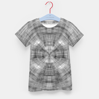 Thumbnail image of psychedelic drawing symmetry graffiti abstract pattern in black and white Kid's t-shirt, Live Heroes