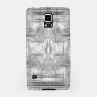 Miniatur psychedelic graffiti skull art abstract in black and white Samsung Case, Live Heroes