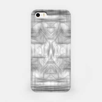 Miniatur psychedelic graffiti skull art abstract in black and white iPhone Case, Live Heroes