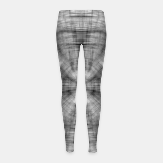 Thumbnail image of psychedelic drawing symmetry graffiti abstract pattern in black and white Girl's leggings, Live Heroes
