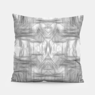 Miniatur psychedelic graffiti skull art abstract in black and white Pillow, Live Heroes