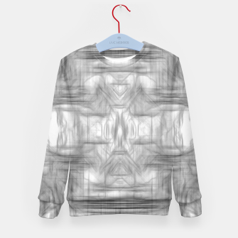 Miniatur psychedelic graffiti skull art abstract in black and white Kid's sweater, Live Heroes