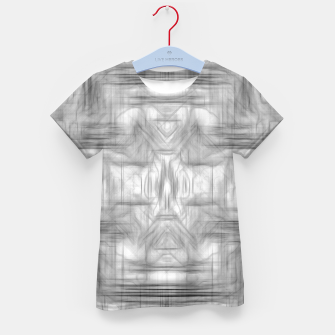Miniatur psychedelic graffiti skull art abstract in black and white Kid's t-shirt, Live Heroes