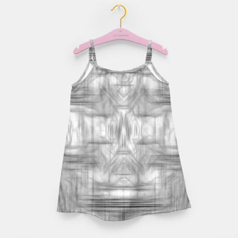 Miniatur psychedelic graffiti skull art abstract in black and white Girl's dress, Live Heroes