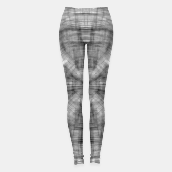 Thumbnail image of psychedelic drawing symmetry graffiti abstract pattern in black and white Leggings, Live Heroes