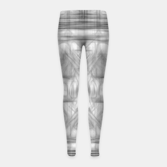 Miniatur psychedelic graffiti skull art abstract in black and white Girl's leggings, Live Heroes