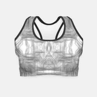 Miniatur psychedelic graffiti skull art abstract in black and white Crop Top, Live Heroes