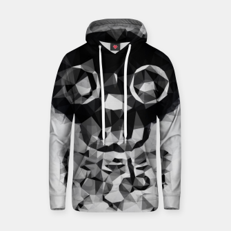 Miniatur psychedelic skull and bone art geometric triangle abstract pattern in black and white Hoodie, Live Heroes