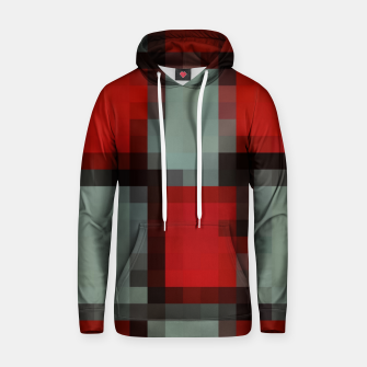 Thumbnail image of pixel geometric square pattern abstract in red and black Hoodie, Live Heroes