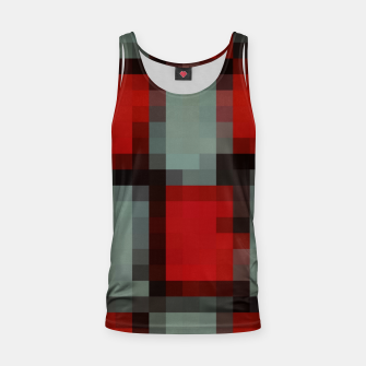 Thumbnail image of pixel geometric square pattern abstract in red and black Tank Top, Live Heroes