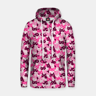 Thumbnail image of Ghostly camouflaging cats are watching you in pink Hoodie, Live Heroes