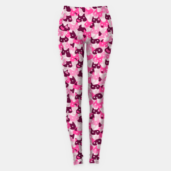 Thumbnail image of Ghostly camouflaging cats are watching you in pink Leggings, Live Heroes