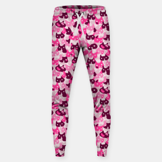 Thumbnail image of Ghostly camouflaging cats are watching you in pink Sweatpants, Live Heroes